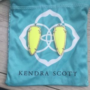 Kendra Scott neon arrow head earrings